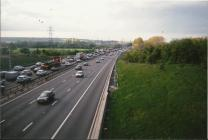 M1 near Toddington - northbound traffic