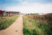 Old trackbed of Cambridge-Bletchley line at Trumpington Meadows